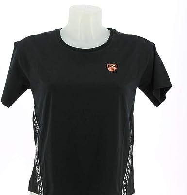 Ea7 emporio armani - Camiseta negra de manga corta para mujer: Amazon.es: Ropa y accesorios