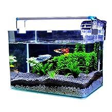 Fish tank Aquarium Small desktop Ecology living room Home Rewan glass Turtle tank Mini gold fish tank , Long 30 * wide 17 * high 20cm