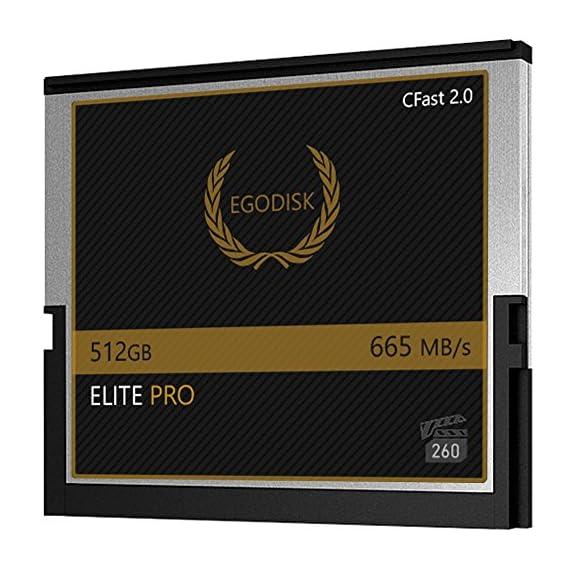 EgoDisk Elite PRO 512GB CFast 2.0 Card - BLACKMAGIC Design URSA Mini 4K • 4.6K 2160p Lossless RAW up to 45 FPS - 3 Year… 2 EgoDisk.com  3 Year USA Limited Warranty  Global Shipping Video Performance Guarantee-260 ( VPG-260) Memory Type: CFast 2.0  Capacity: 512GB  Speed:665MB/s