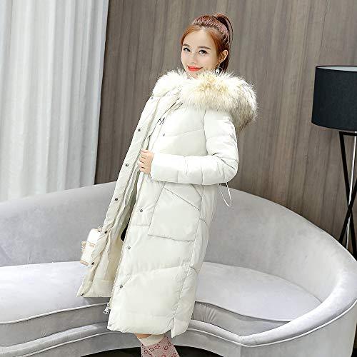 Bianco Parka Eleganti Cappotto Con Manica Invernali Caldo Cappotti Lungo  Antivento Donna Imbottito Cappuccio Mambain Taglie Pelliccia ... 5b961ea8ec1