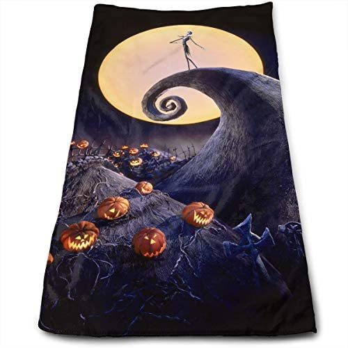 Hand Towels The Nightmare Before Christmas Face Towels Highly Absorbent Towels for Face Gym and Spa 12 X 275