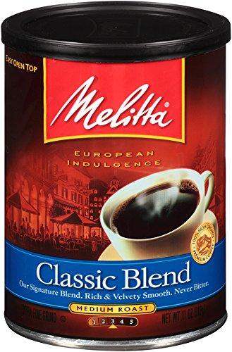 Melitta Coffee, Classic Blend Ground, Medium Roast, 11-Ounce (11 Ounce Breakfast Cup)