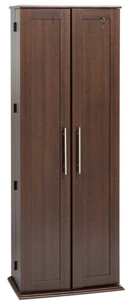 Espresso Grande Locking Media Storage Cabinet with Shaker Doors by Prepac