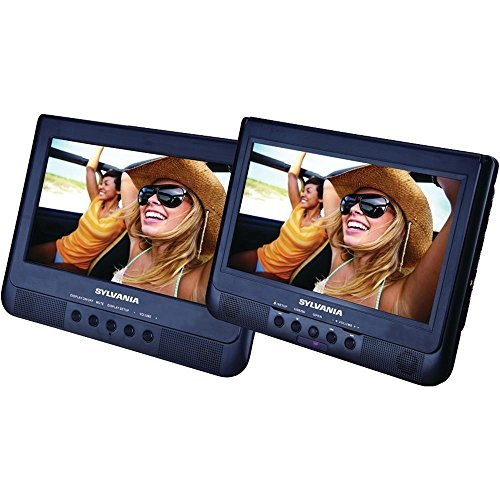 (Sylvania 10.1-Inch Dual Screen Portable DVD Player with USB Card Slot to Play Digital Movies