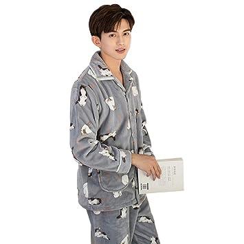 Pijamas Coral con Estampado de Animales Grises, Traje de ...
