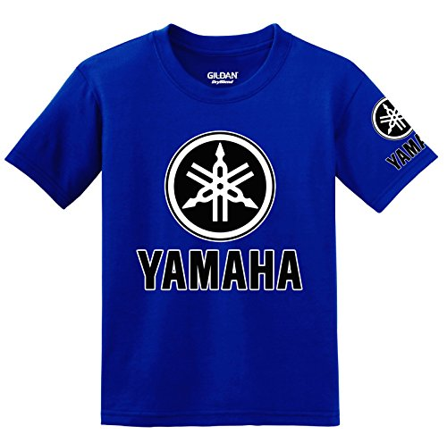 Yamaha Logo with Sleeve T-Shirt, 3XL Blue