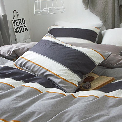 "Price comparison product image Geometric Striped Cotton Pillow Cover Set 2 Pieces Standard King Pillowcases Set Modern Luxury Pillow Shams Set Reversible for Men Boys,Envelope Closure, (2pcs, 20""×36"")"