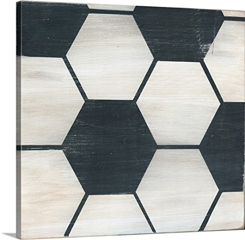 greatBIGcanvas Gallery-Wrapped Canvas entitled Rustic Soccer by Alli Rogosich 30''x28'' by greatBIGcanvas