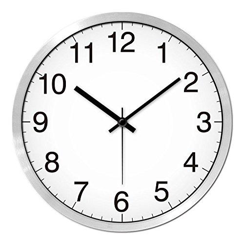 (Jedfild The Nordic style wall clock minimalist modern digital monochrome mute personality art Quartz watches, 12