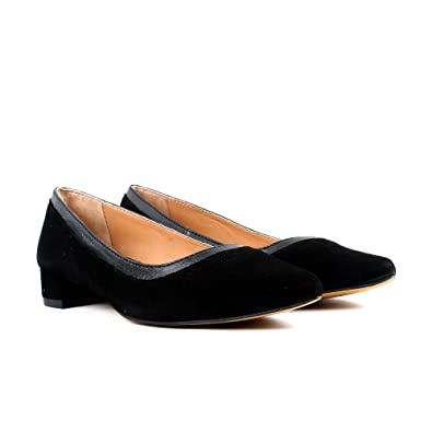 5b0156e22eb Carlton London Ladies Black Suede Heeled Court Shoe Formal Size 4