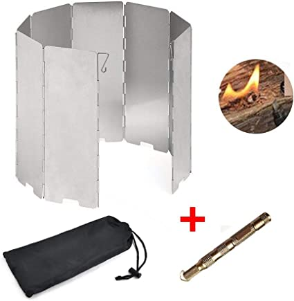 Camping Fire Windshield Stove Foldable Guard Outdoor Cooking Aluminum Alloy