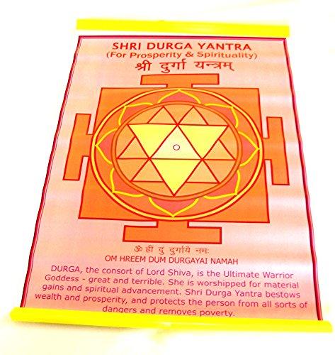 Yapree Handmade Sri Durga Yantra Meditation Chart Poster : 18 X 12