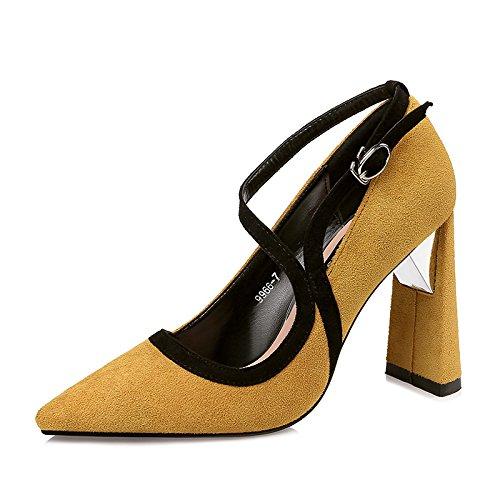 XiaoGao de punta espesor zapatos altos Con 10 de zapatos Tacones cm de SHBxqfwS