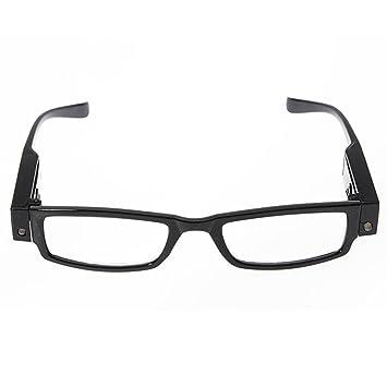 8a4d61eeea SODIAL Gafas de lectura Lupa Lente de aumento LED Presbicia Negro, Dioptria  +2: Amazon.es: Salud y cuidado personal