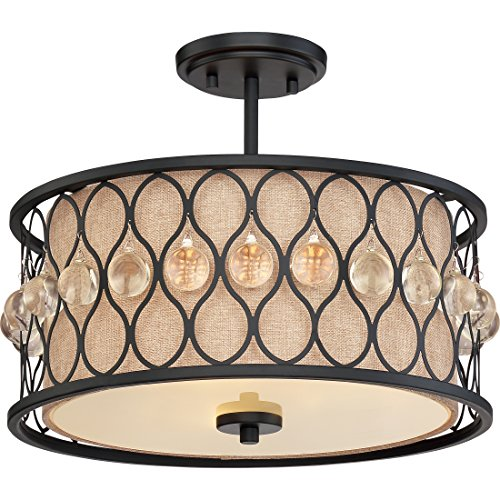 Quoizel Lighting TST2969B Illumina Direct Semi-Flush Mount Illumina Direct Collection (Chandelier Glass Stained Quoizel)