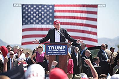 President Elect Donald J. Trump, Photo, 45th President of the USA, Red Hat, AZ , 8''x10'' Photo Print