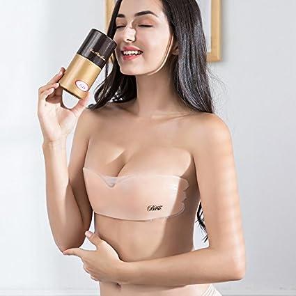 NewPI Sujetador Adhesivo, Push Up Sin Espalda de Silicona Bra Invisible Adhesivo Reutilizable sin Tirantes Espalda.: Amazon.es: Ropa y accesorios