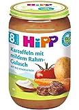 HiPP Kartoffeln mit mildem Rahm-Gulasch, 6er Pack (6 x 220 g)