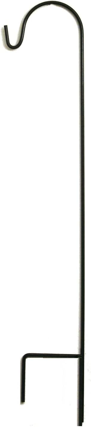 Ashman Shepherd Hook 48 Inches, 2/5 Inch Thick, Super Strong Premium Metal and Rust Resistant Hook, Black
