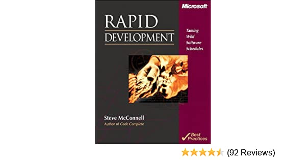 Rapid Development By Steve Mcconnell Ebook