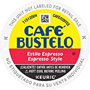 Café Bustelo Coffee Espresso Style Dark Roast Coffee, 72 K Cups for Keurig Coffee Makers