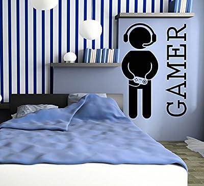 Wall Decal Gamer Video Games Joystick Fun Cool Decor Kids Nursery room