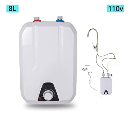 Beautiful Zinnor Electric Hot Water Heater For Kitchen Bathroom Household, 8L  1500W/110V Hot Water