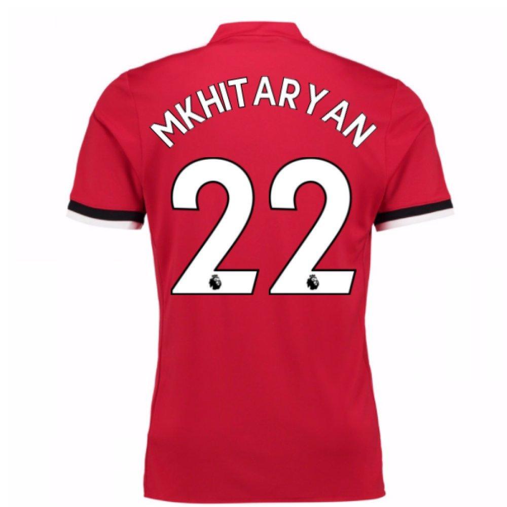 2017-2018 Man United Home Football Soccer T-Shirt Trikot (Henrikh Mkhitaryan 22) - Kids