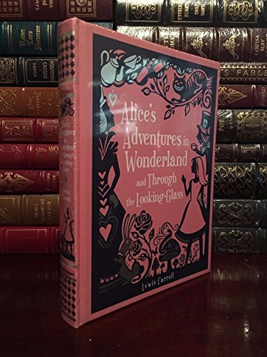 Alice's Adventures & Through Looking Glass Carroll Leather Bound Collectible