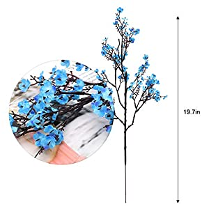 Baby Breath Gypsophila Artificial Flowers, Babies Breath Flowers Bush Artificial Gypsophila Silk Silica Real Touch Blooms for Wedding Bridal Party DIY Home Floral Arrangement Decor, 10 Bundles, 19.7'' 5