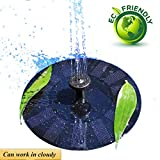 UFLYAY Solar Fountain Pump - 2018 Upgraded Can Work On A Cloudy Day - 1.4W Solar Panel Suitable for Submersible Watering, Garden Decoration, Bird Bath, Fish Tank, Water Circulation for Oxygen (Black)