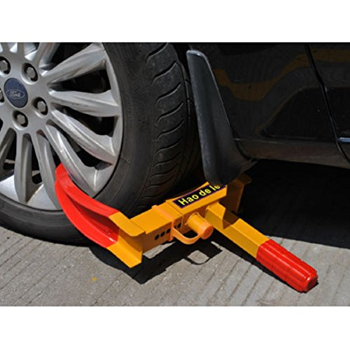 New Heavy Duty Whee Lock Clampl Boot Tire Claw Trailer Auto Car Truck Anti-Theft Towing (Nut Lug Cap Remover Vw)