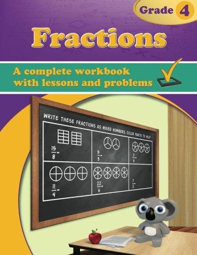 Fractions, Grade 4 Workbook]()
