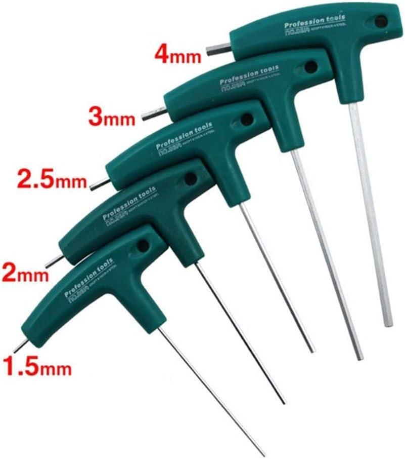 H2mm H1.5mm-10mm 5mm T-Griff Schl/üssel Inbus Schrauben Werkzeugen Vaugan Innensechskant Schraubenzieher