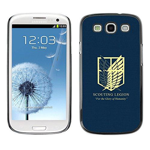 Caucho caso de Shell duro de la cubierta de accesorios de protección BY RAYDREAMMM - Samsung Galaxy S3 - Legión de exploración