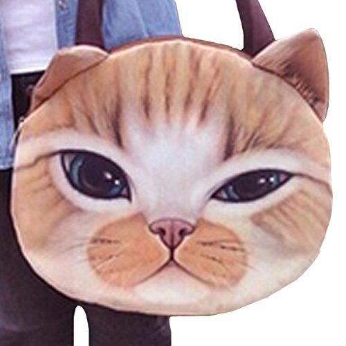 AiSi Cute Shoulder Tote Pussy Face Handbags Fashion Cat Cat Women Shopping Bag Yellow xFUH8wnSqx