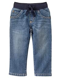Gymboree Baby Boys' Pull-on Straight Jeans