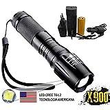 Lanterna Tática Militar X900 Recarregável Police Com Zoom