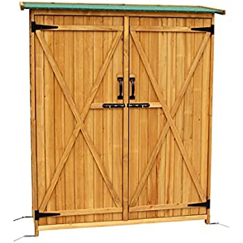 Amazon Com Spacesaver Wood Lean To Shed Garden Amp Outdoor