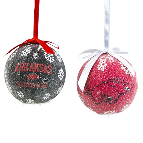 Arkansas Razorbacks LED Ball Ornament Boxed Set (10.4 x 9.59 x - Razorbacks Led Arkansas