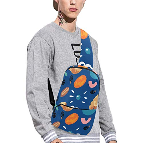 Sling Shoulder Bag Fashion Dried Raisins Sweet And Sour Snacks Crossbody Bag Daily Sports Climbing Or Multi-purpose Backpack Men And Women Ladies And Teens