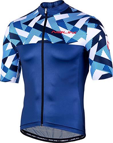 Nalini Cycling Clothing - Nalini AIS Centenario 2.0 Short-Sleeve Road Bike Jersey - Men's Dark Blue, M