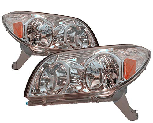For 2003 2004 2005 Toyota 4Runner Headlight Headlamp Assembly Driver Left and Passenger Right Side Pair Set Replacement TO2502146 -