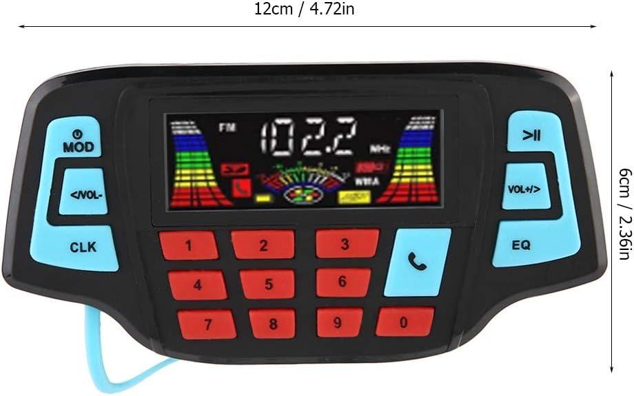 10W Moto Audio St/ér/éo BT Lecteur MP3 Moteur /Étanche USB TF Card Carrier Syst/ème de Haut-Parleur St/ér/éo Universel Moto Lecteur MP3 12V 2