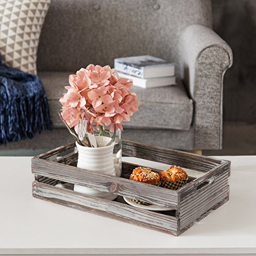 MyGift Set of 3 Nesting Torched Wood Storage Crates by MyGift (Image #3)