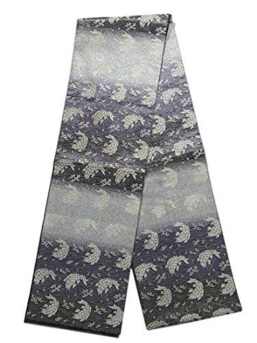 怠けたフルーティー気怠いリサイクル 袋帯  横段に荒磯文 正絹