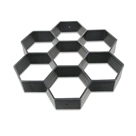 HOMYY Molde para Hacer Caminos. Hexagon - Molde Reutilizable para Cemento de hormigón, Cemento