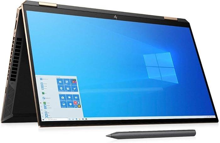 Newest HP Spectre x360 15t THIN BEZEL OLED(Intel i7-10750H 6 Cores with GeForce GTX 1650 Ti, 1TB SSD, Precision, WIFI 6, 3 Years McAfee Security, Windows 10 Pro, HP Worldwide Warranty) Nightfall Black