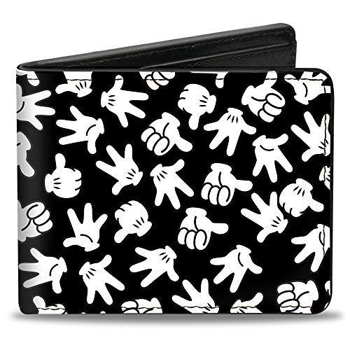 Buckle-Down Men's Bifold Wallet Mickey Mouse, Multicolor, 4.0