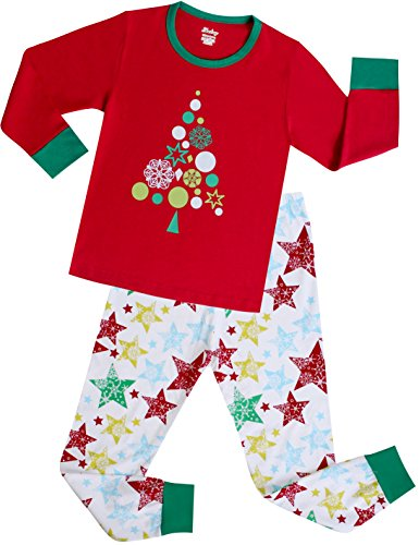 shelry Girls Pajamas Children Christmas Gift Set Kids Sleepwear Toddler Cotton Clothes Size 2 Years by shelry